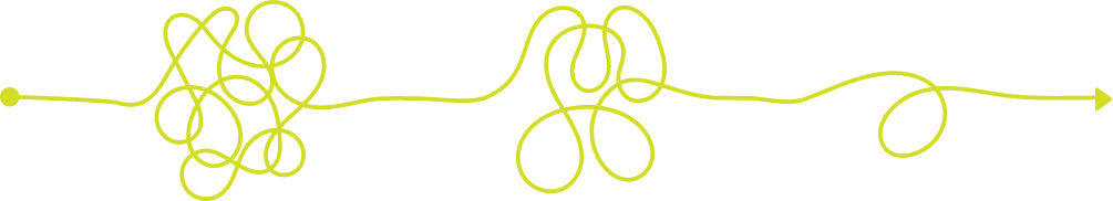 3 tangles on a rope getting increasingly simpler. Whole Growth Partners